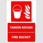 EF2251 - Türkçe, İngilizce Yangın Kovası, Fire Bucket