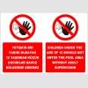 EF2293 - Türkçe İngilizce Yetişkin bir yakını olmayan 12 yaşından küçük çocuklar havuz bölgesine giremez