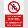 EF2320 - Türkçe İngilizce Yüzme Bilmeyenler Denize Giremez, Non Swimmers Can Not Enter Into The Sea