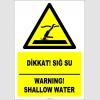 EF2359 - Türkçe İngilizce Dikkat! Sığ Su, Warning! Shallow Water