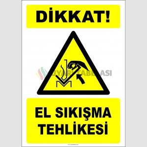 EF2441 - Dikkat! El Sıkışma Tehlikesi