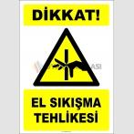EF2442 - Dikkat! El Sıkışma Tehlikesi