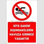 EF2448 - Site Sakini Dışındakilerin Havuza Girmesi Yasaktır