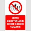 EF2507 - Yüzme Bilmeyenlerin Denize Girmesi Yasaktır