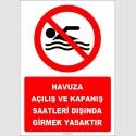 EF2515 - Havuza Açılış ve Kapanış Saatleri Dışında Girmek Yasaktır