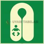 EF2516 - Fosforlu Bebek Can Yeleği İşareti Levhası/Etiketi