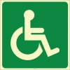 EF2164 - Fosforlu Engelli İşareti Levhası/Etiketi