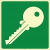 EF2156 - Fosforlu Anahtar İşareti/Levhası/Etiketi