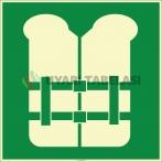 EF2013 - Fosforlu Can Yeleği İşareti Levhası/Etiketi