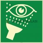 EF1998 - Fosforlu Acil Göz Duşu İşareti Levhası/Etiketi
