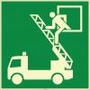 EF1986 - Fosforlu İtfaiye Merdivenine Acil Çıkış Penceresi İşareti Levhası/Etiketi