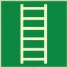 EF1988 - Fosforlu Acil Kaçış Merdiveni İşareti Levhası/Etiketi