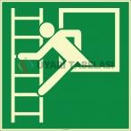 EF1984 - Fosforlu Acil Çıkış Penceresi ve Merdiveni İşareti Levhası/Etiketi
