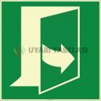 EF1982 - Fosforlu Kapıyı Açmak İçin Soldan Çekin İşareti Levhası/Etiketi