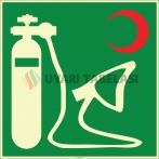 EF1974 - Fosforlu Oksijen Resusitatörü İşareti Levhası/Etiketi