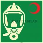 EF1973 - Fosforlu Acil Kaçış Maskesi İşareti Levhası/Etiketi