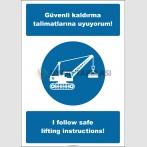 EF2531 - Türkçe İngilizce Güvenli Kaldırma Talimatlarına Uyuyorum