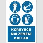 EF2615 - Koruyucu Malzemeni Kullan, Elbise, Toz Maskesi, Kulaklık, Eldiven