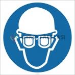EF2629 - Baret ve Gözlük İşareti/Levhası/Etiketi