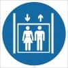 EF2636 - Personel Asansörü İşareti/Levhası/Etiketi