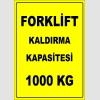EF2666 - Forklift Kaldırma Kapasitesi 1000 kg