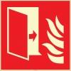 EF2669 - Fosforlu Yangından Koruma Kapısı İşareti Levhası/Etiketi