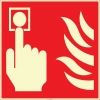 EF2670 - Fosforlu Yangın Alarmı İşareti Levhası/Etiketi