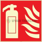 EF2671 - Fosforlu Yangın Söndürücü İşareti Levhası/Etiketi