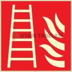 EF2674 - Fosforlu Yangın Merdiveni İşareti Levhası/Etiketi