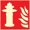 EF2683 - Fosforlu Yangın Hidrantı İşareti Levhası/Etiketi