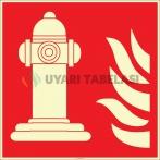EF2686 - Fosforlu Yangın Hidrantı İşareti Levhası/Etiketi