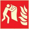 EF2678 - Fosforlu Yangın Battaniyesi İşareti Levhası/Etiketi