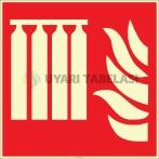 EF2681 - Fosforlu Sabit Yangın Söndürme Sistemi İşareti Levhası/Etiketi