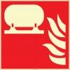 EF2685 - Fosforlu Sabit Yangın Söndürme Tesisatı İşareti Levhası/Etiketi