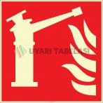 EF2687 - Fosforlu Yangın Su Monitörü İşareti Levhası/Etiketi