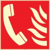 EF2689 - Fosforlu Acil Yangın Telefonu İşareti Levhası/Etiketi