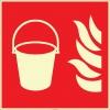 EF2690 - Fosforlu Yangın Kovası İşareti Levhası/Etiketi
