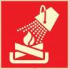 EF2691 - Fosforlu Yangın Kovası İşareti Levhası/Etiketi
