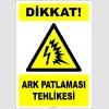 EF2697 - Dikkat! Ark Patlaması (flaş) Tehlikesi
