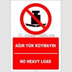 EF2699 - Türkçe İngilizce Ağır Yük Koymayın, No Heavy Load