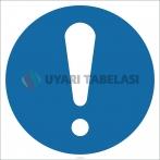 EF2701 - Genel Zorunlu Eylem (Emredici) İşareti/Levhası/Etiketi