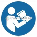 EF2702 - Güvenlik Bilgi Formunu (SDS) Okuyun İşareti/Levhası/Etiketi