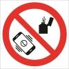 EF2757 - Cep Telefonu Ve Çakmak Bulundurmak Yasaktır İşareti