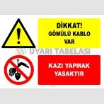 EF2766 - Dikkat! Gömülü Kablo Var, Kazı Yapmak Yasaktır