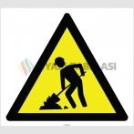 EF2774 - Dikkat! Kazı Çalışması Var işareti