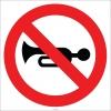 EF2782 - Klakson Çalmak Yasaktır işareti