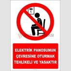 EF2826 - Elektrik Panosunun Çevresine Oturmak Tehlikeli ve Yasaktır
