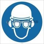 EF2854 - Baret, Gözlük ve Kulaklık Kullan İşareti/Levhası/Etiketi