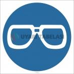 EF2863 - Koruyucu Gözlük Kullan İşareti/Levhası/Etiketi