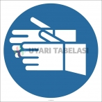 EF2878 - Koruyucu Eldiven Giy İşareti/Levhası/Etiketi